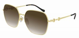 Gucci Gold Sunglasses brown lens on sale